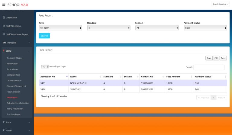 school software template - 1