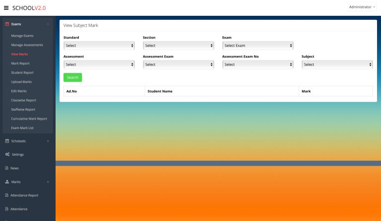 school software template - 4