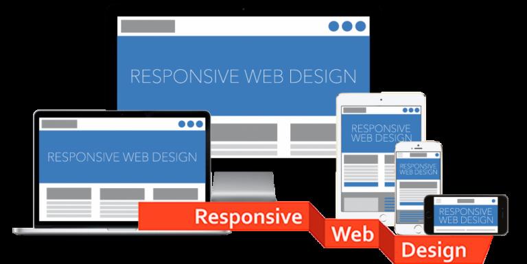 Responsive web design in desktop mobile
